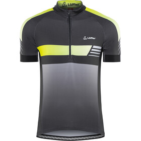 Löffler Hotbond Reflective Bike Jersey Half-Zip Men, black/lemon